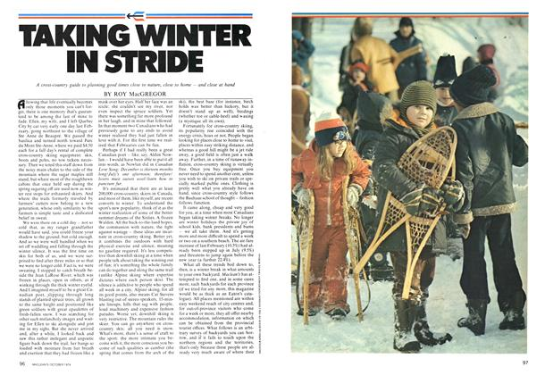 Article Preview: TAKING WINTER IN STRIDE, October 1974 | Maclean's