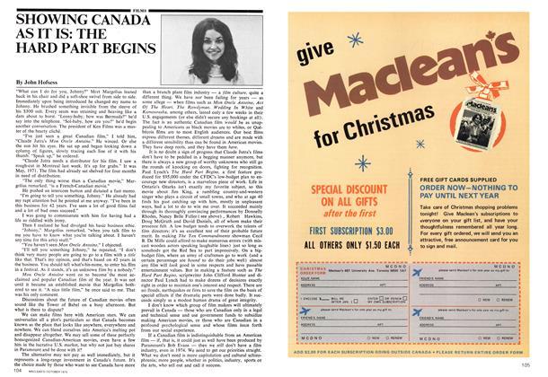 Article Preview: SHOWING CANADA AS IT IS: THE HARD PART BEGINS, October 1974 | Maclean's