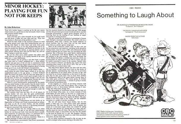 Article Preview: MINOR HOCKEY: PLAYING FOR FUN NOT FOR KEEPS, October 1974 | Maclean's