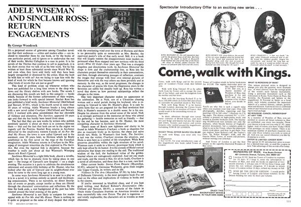 Article Preview: ADELE WISEMAN AND SINCLAIR ROSS: RETURN ENGAGEMENTS, October 1974 | Maclean's