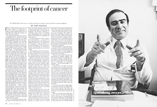 Article Preview: The footprint of cancer, November 1974 | Maclean's