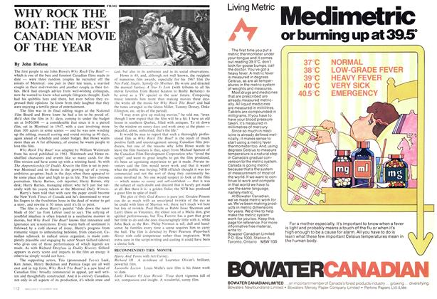Article Preview: WHY ROCK THE BOAT: THE BEST CANADIAN MOVIE OF THE YEAR, November 1974 | Maclean's