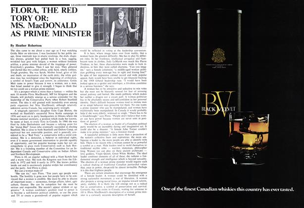 Article Preview: FLORA, THE RED TORY OR: MS. MacDONALD AS PRIME MINISTER, November 1974 | Maclean's