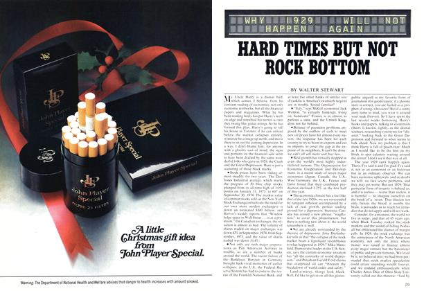 Article Preview: HARD TIMES BUT NOT ROCK BOTTOM, December 1974 | Maclean's