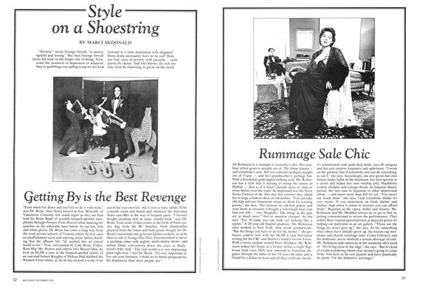 Article Preview: Style on a Shoestring, December 1974 | Maclean's