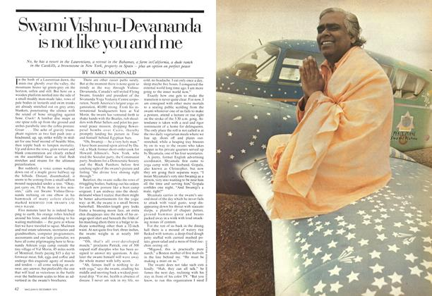Article Preview: Swami Vishnu-Devananda is not like you and me, December 1974 | Maclean's