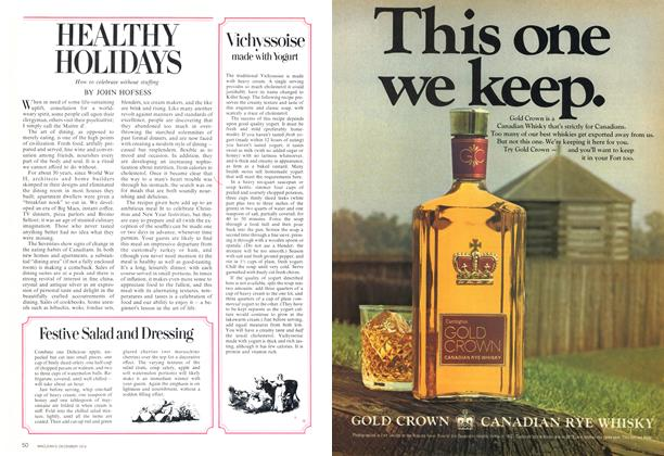Article Preview: HEALTHY HOLIDAYS, December 1974 | Maclean's