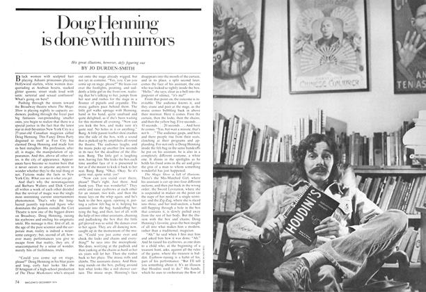 Article Preview: Doug Henning is done with mirrors, December 1974 | Maclean's