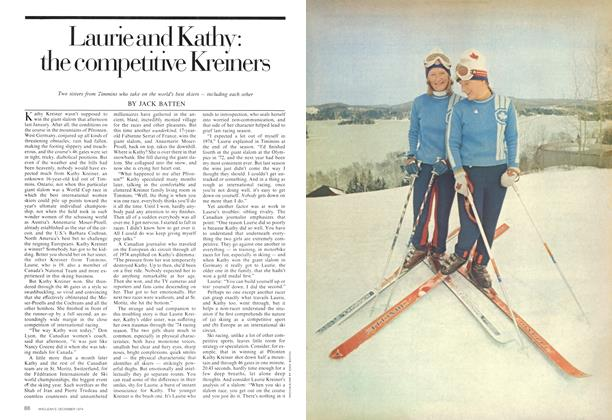 Article Preview: Laurie and Kathy: the competitive Kreiners, December 1974 | Maclean's