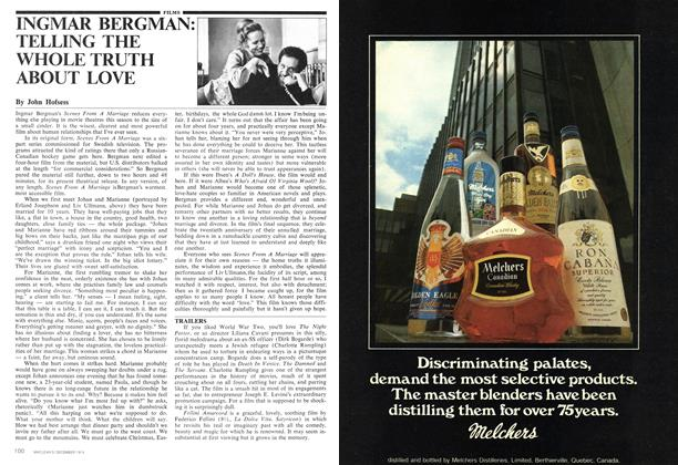 Article Preview: INGMAR BERGMAN: TELLING THE WHOLE TRUTH ABOUT LOVE, December 1974 | Maclean's