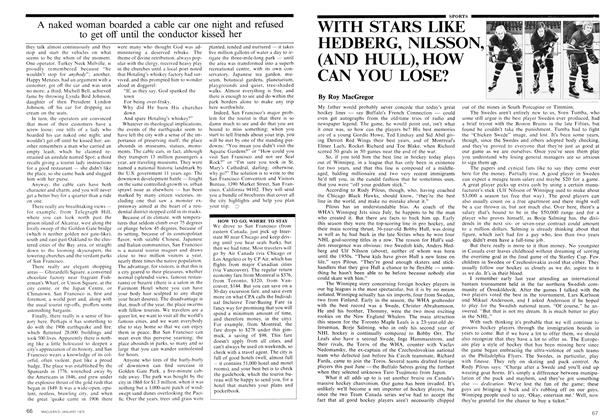Article Preview: WITH STARS LIKE HEDBERG, NILSSON, (AND HULL), HOW CAN YOU LOSE?, January 1975 | Maclean's