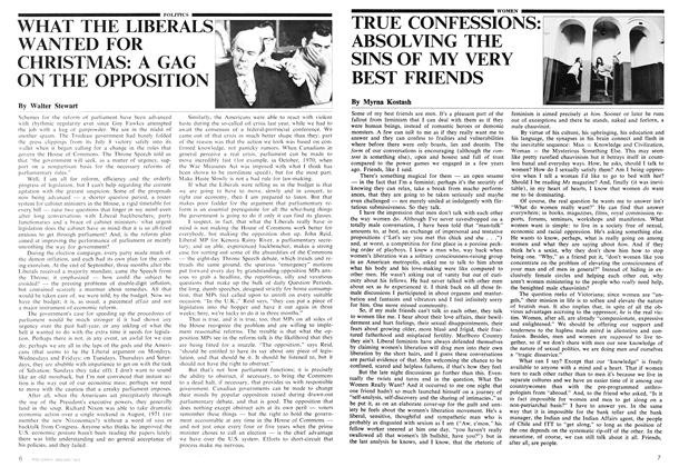 Article Preview: WHAT THE LIBERALS WANTED FOR CHRISTMAS: A GAG ON THE OPPOSITION, January 1975 | Maclean's