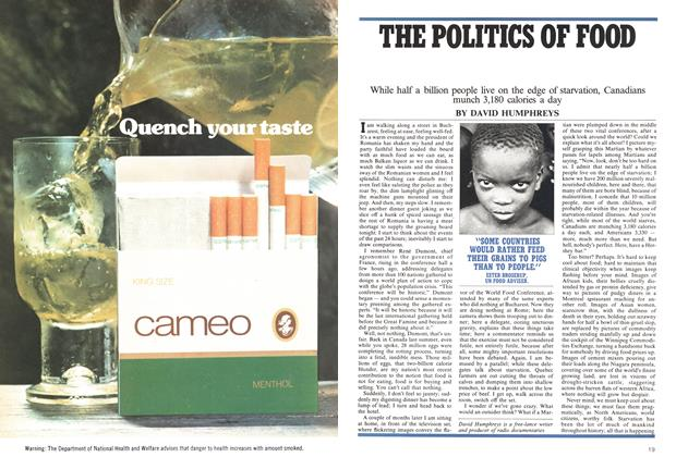 Article Preview: THE POLITICS OF FOOD, February 1975 | Maclean's