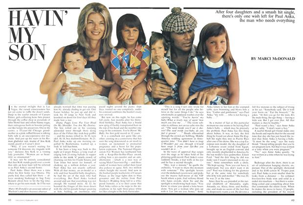 Article Preview: HAVIN' MY SON, February 1975 | Maclean's