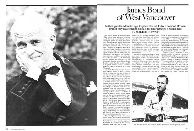 Article Preview: James Bond of West Vancouver, February 1975 | Maclean's