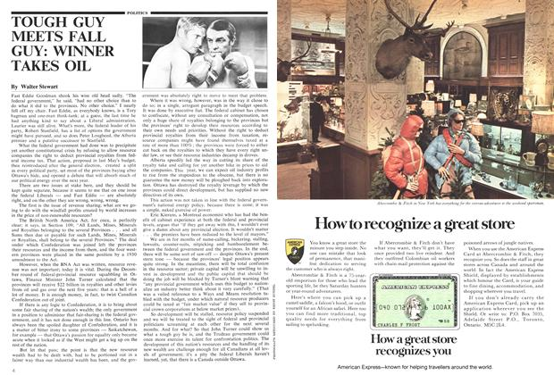 Article Preview: TOUGH GUY MEETS FALL GUY: WINNER TAKES OIL, February 1975 | Maclean's
