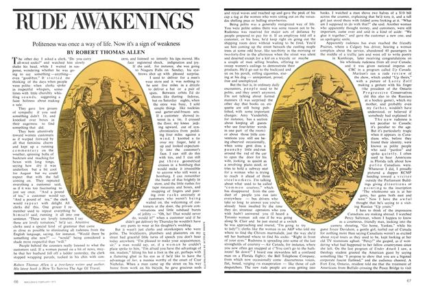 Article Preview: RUDE AWAKENINGS, February 1975 | Maclean's