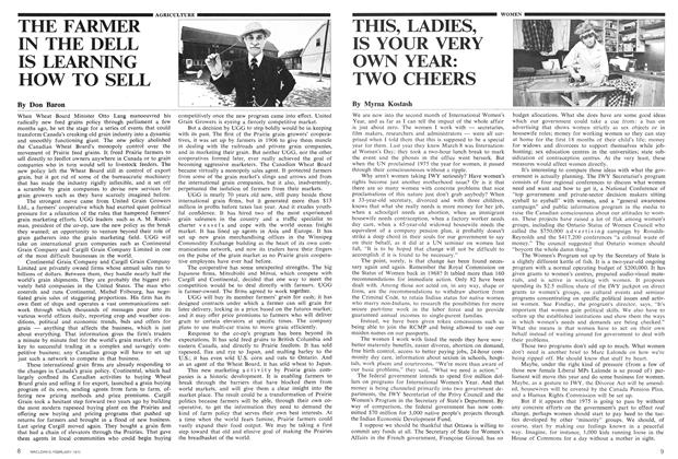 Article Preview: THIS, LADIES, IS YOUR VERY OWN YEAR: TWO CHEERS, February 1975 | Maclean's