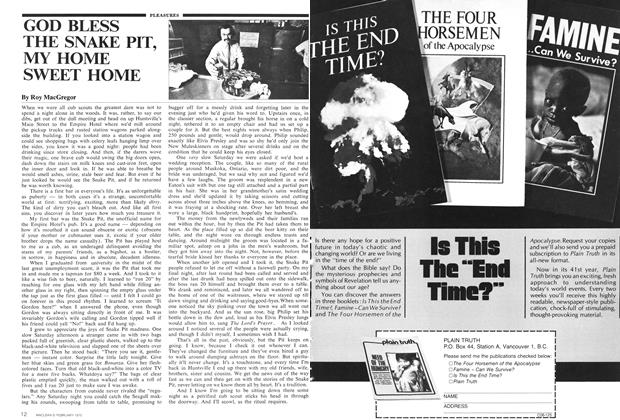 Article Preview: GOD BLESS THE SNAKE PIT, MY HOME SWEET HOME, February 1975 | Maclean's