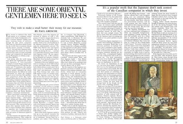 Article Preview: THERE ARE SOME ORIENTAL GENTLEMEN HERE TO SEE US, March 1975 | Maclean's