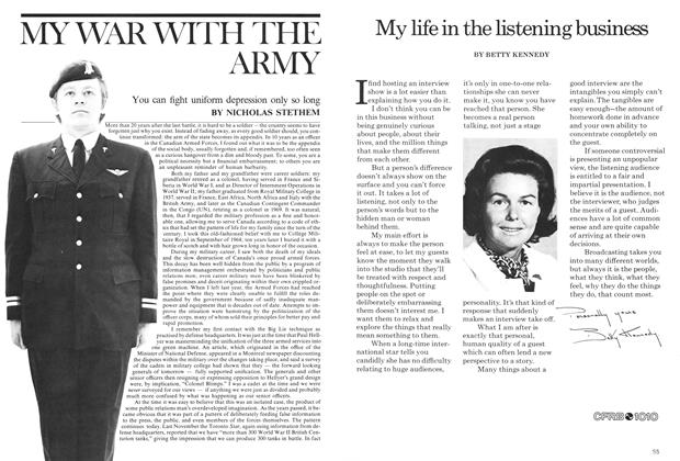 Article Preview: MY WAR WITH THE ARMY, March 1975 | Maclean's