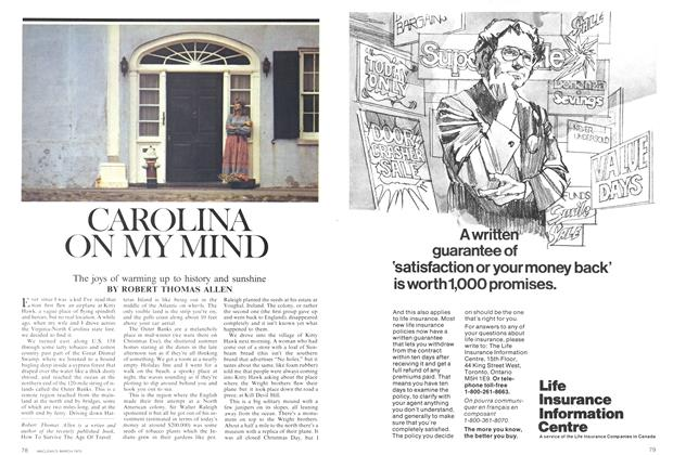 Article Preview: CAROLINA ON MY MIND, March 1975 | Maclean's