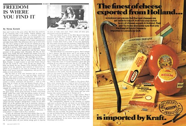 Article Preview: FREEDOM IS WHERE YOU FIND IT, March 1975 | Maclean's