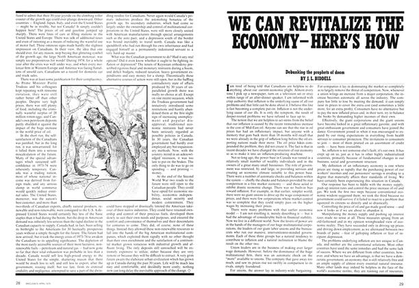 Article Preview: WE CAN REVITALIZE THE ECONOMY-HERE'S HOW, April 1975 | Maclean's