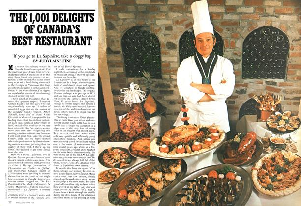 Article Preview: THE 1,001 DELIGHTS OF CANADA'S BEST RESTAURANT, April 1975 | Maclean's
