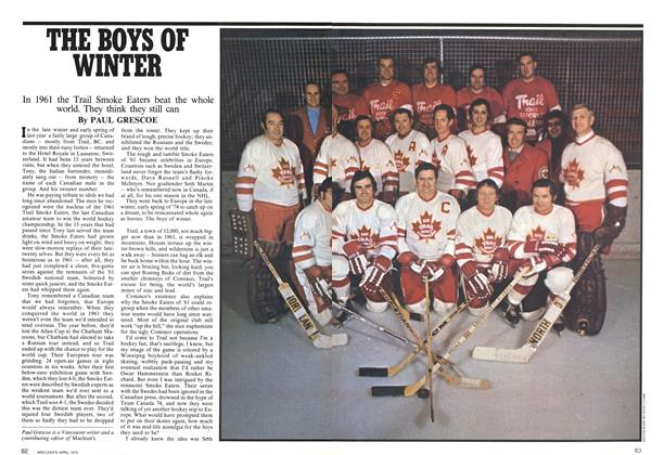 Article Preview: THE BOYS OF WINTER, April 1975 | Maclean's