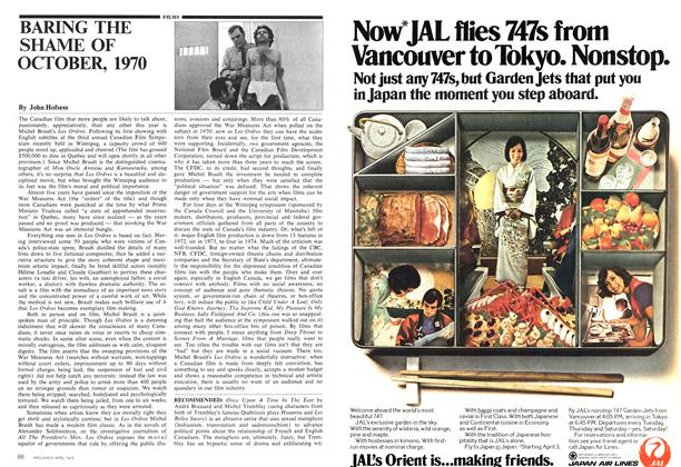 Article Preview: BARING THE SHAME OF OCTOBER, 1970, April 1975 | Maclean's