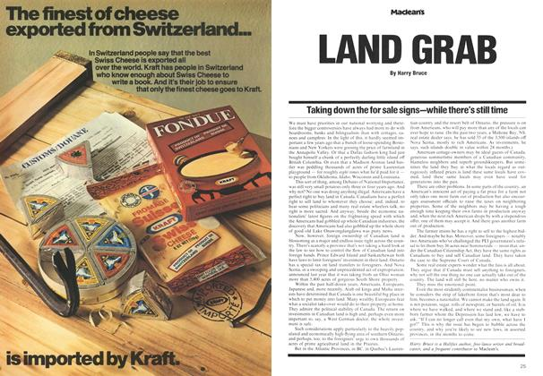 Article Preview: LAND GRAB, May 1975 | Maclean's