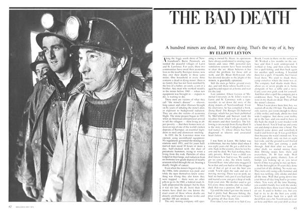 Article Preview: THE BAD DEATH, May 1975 | Maclean's