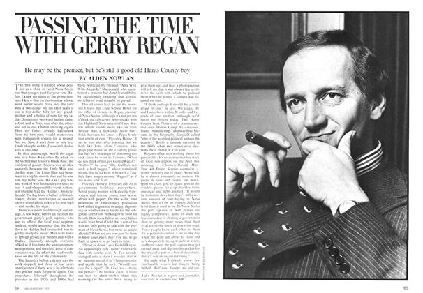 Article Preview: PASSING THE TIME WITH GERRY REGAN, May 1975 | Maclean's