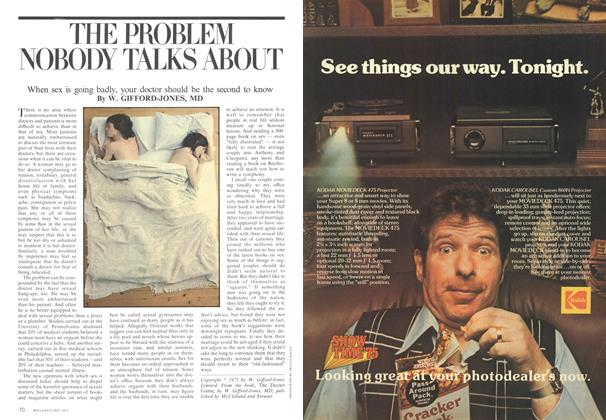 Article Preview: THE PROBLEM NOBODY TALKS ABOUT, May 1975 | Maclean's