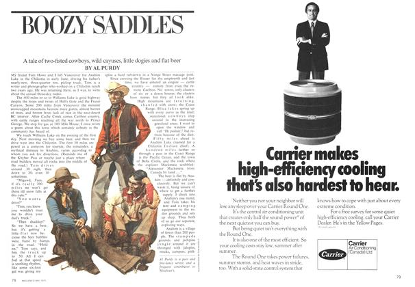 Article Preview: BOOZY SADDLES, May 1975 | Maclean's