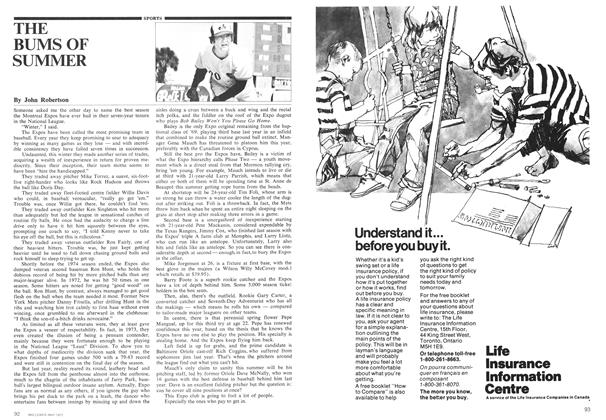 Article Preview: THE BUMS OF SUMMER, May 1975 | Maclean's