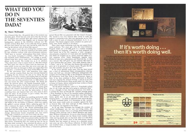 Article Preview: WHAT DID YOU DO IN THE SEVENTIES DADA?, May 1975 | Maclean's