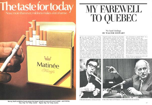 Article Preview: MY FAREWELL TO QUEBEC, June 1975 | Maclean's