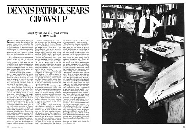 Article Preview: DENNIS PATRICK SEARS GROWS UP, June 1975 | Maclean's