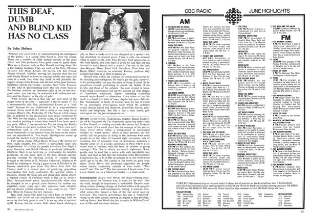 Article Preview: THIS DEAF, DUMB AND BLIND KID HAS NO CLASS, June 1975 | Maclean's