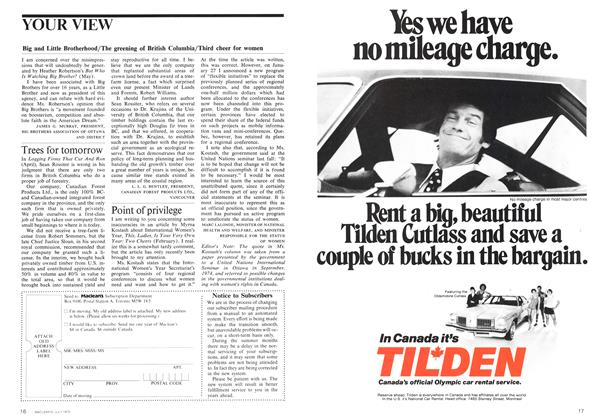 Article Preview: YOUR VIEW, July 1975 | Maclean's