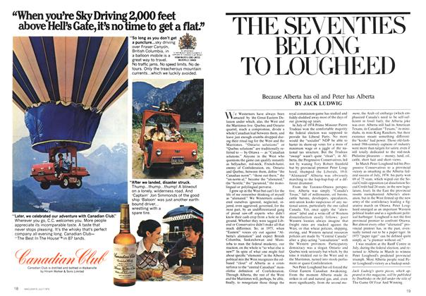 Article Preview: THE SEVENTIES BELONG TO LOUGHEED, July 1975 | Maclean's