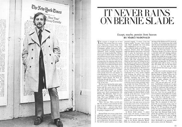 Article Preview: IT NEVER RAINS ON BERNIE SLADE, July 1975 | Maclean's