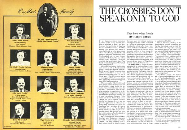 Article Preview: THE CROSBIES DON'T SPEAKONLY TO GOD, July 1975 | Maclean's