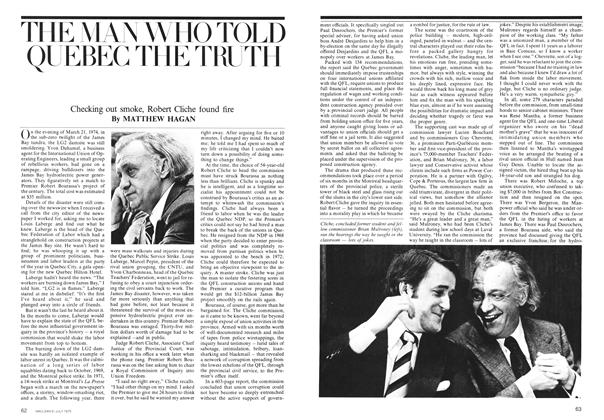 Article Preview: THE MAN WHO TOLD QUEBEC THE TRUTH, July 1975 | Maclean's