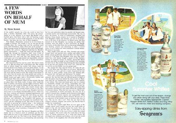 Article Preview: A FEW WORDS ON BEHALF OF MUM, July 1975 | Maclean's