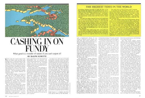 Article Preview: CASHING IN ON FUNDY, August 1975   Maclean's