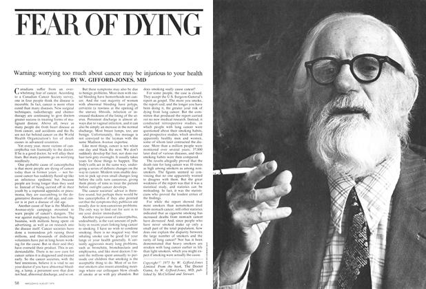 Article Preview: FEAR OF DYING, August 1975 | Maclean's