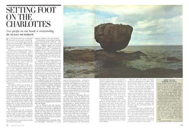Article Preview: SETTING FOOT ON THE CHARLOTTES, August 1975 | Maclean's